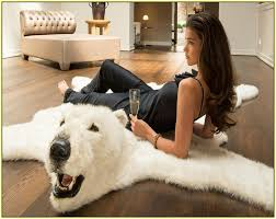 fake bear rug