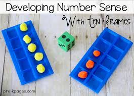 how to use ten frames to develop number sense in pre