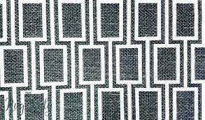 black and white geometric rug uk