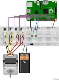 stepper motor control raspberry pi controlling stepper motor raspberry pi circuit diagram