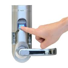 front door locks lowesShop iTouchless BioMatic Silver SingleCylinder Motorized