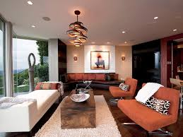 contemporary lounge lighting. Unique Wooden Circular Pendant Lighting With White Wool Rug For Contemporary Living Room Ideas Lounge