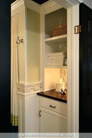 build bathroom cabinets remodel before after original linen closet replaced with lower cabinet open shelves above closet shelves to build linen