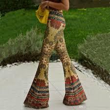 Flare Pants Pattern Fascinating 48 Elegant Women Flare Pants Elastic Loose Trousers Pattern Print