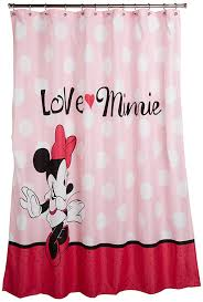 com disney minnie mouse neon fabric shower curtain 70 x72 11 99 prime