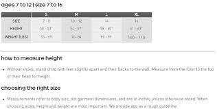 Adidas Five Ten Size Charts