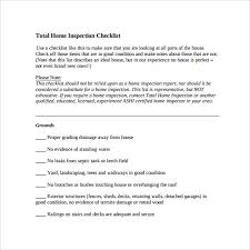 list of home inspection items sample inspection checklist 14 documents in pdf word