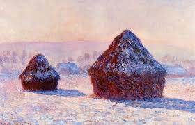 claude monet 1840 1926 grainstacks in the morning snow effect oil on