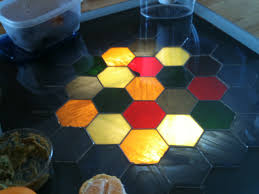 Stained Glass Coffee Table Handmade Settlers Of Catan Stained Glass Coffee Table
