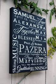 personalized 16x20 family name word collage on canvas on custom word wall art canvas with personalized 16x20 family name word collage on canvas family name
