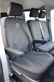 vw transporter t6 tailored heavy duty seat covers with 2 vw logos