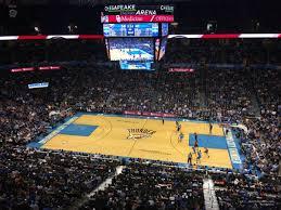 Chesapeake Energy Arena Section 308 Oklahoma City Thunder