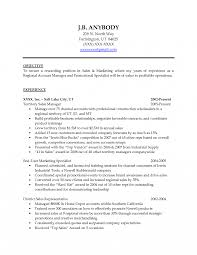Resume Objective For Sales Manager Position District Best Statement