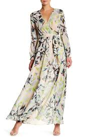 Ark And Co Size Chart Ark Co Long Sleeve Surplice Maxi Dress Nordstrom Rack