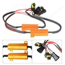 2pcs h8 h11 led headlight drl fog light load resistors wiring 2pcs h8 h11 led headlight drl fog light load resistors wiring harness canbus ca297