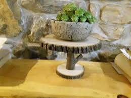 Large Bowl Display Stand Rustic Home and Wedding Decor Cake Stands Centerpieces Wood 73