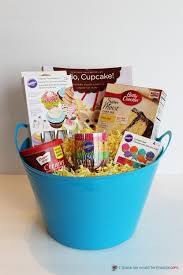 5 creative gift baskets a cupcake themed basket is fun to give especially with