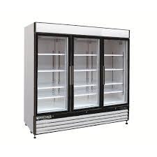 triple door commercial upright merchandiser freezer