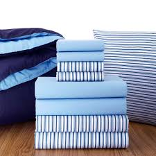 blue and white striped sheets. Fine White Amusing Striped Sheets Plus Oxford Stripe Light Blue And Navy Comforter  Find White Full To Apply For Home Decor