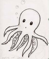 Small Picture Cute Octopus Drawing Tumblr Food Wallpaper Colouring