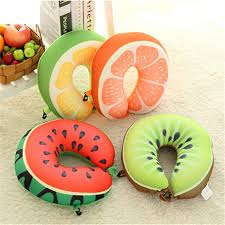1pcs fruit u shape travel neck pillow plane car train bus home office rest nap buy shape home office