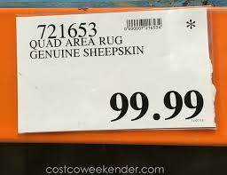deal for the woolmark genuine sheepskin rug at costco