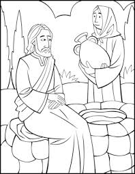 Small Picture Sunday School Coloring Page Woman at the Well