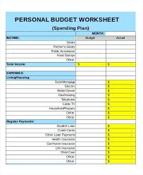 Sample Budget Worksheet Impressive Personal Weekly Expense Budget Template Bi Excel Gocreatorco