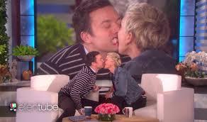 Ellen And Portia Watch Ellen Degeneres Kiss Jimmy Fallon On The Mouth