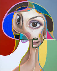 post neo cubism paintings murals by belin spanish artist
