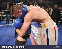Boxer Light French Light Heavyweight Boxer Tony Averlant Hugs His Son