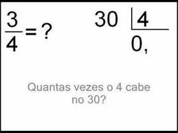 Resultado de imagem para transformação de frações em numeros decimais