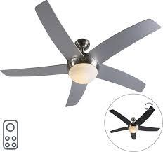 Qazqa Cool 52 Plafond Ventilator Met Lamp 2 Lichts Staal