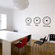 office wall clocks. Time Zone Clocks Wall Stickers Mechanisms By Spin Collective Office