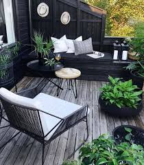 furnish and decorate a small deck