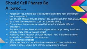why cell phones should be allowed in school argumentative essay