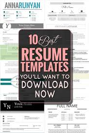 Best 25 Free Creative Resume Templates Ideas On Pinterest Great