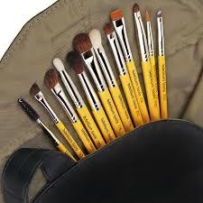bdellium tools. brush set with roll-up pouch - bdellium tools m