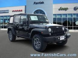 2018 black clearcoat jeep wrangler jk unlimited rubicon 4 door automatic suv 3 6l 6