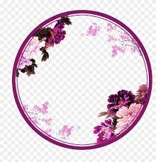 Circle Border Purple Chinese Wind Flower Circle Border Texture Flowers