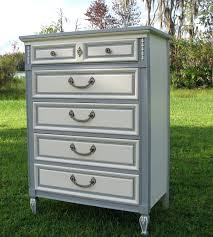 Shabby Chic Cream Bedroom Furniture Shabby Chic Dresser Painted Furniture Gray And White French