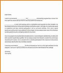 re mendation letter for scholarship sample letter of re mendation for scholarship