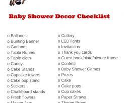 Baby Shower Decoration Checklist Baby Shower Decoration Checklist Baby Shower Supplies Checklist