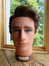 Vintage Male Mannequin Head Hoofd Tête à Chapeau Kopf Kappersmodel Testamodella Caliven 1980s