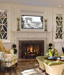 article on placing tv over fireplace