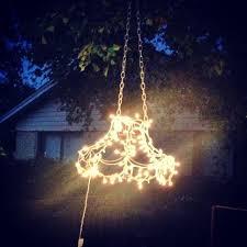 solar lights in backyard unique the baby giraffe outdoor chandelier tutorial