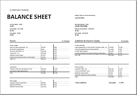 balance sheet template balance sheet assets and liabilities format template example