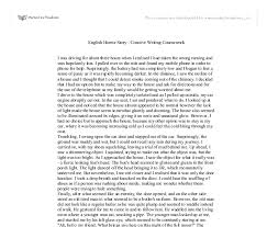 english horror story creative writing coursework i was driving document image preview