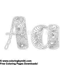 Labrint Alphabet A Coloring Page 893