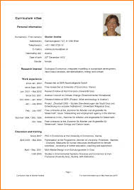 Nice Sample Of Curriculum Vitae For Research Paper Pattern Example